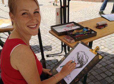 Event- & PortraitZeichnerin Nina Heinke